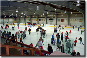 Skate with Santa at the Saranac Lake Civic Center